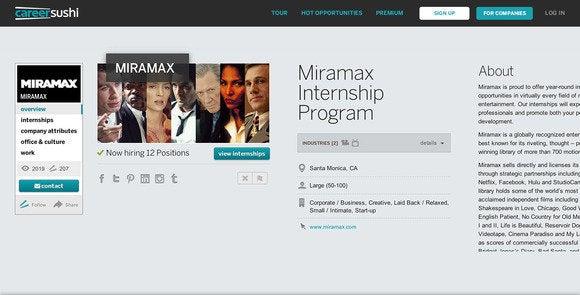 career sushi company profile