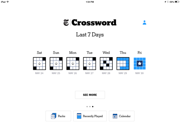Staff picks nytimes crossword app gets its appeal across and down crossword calendar ccuart Choice Image