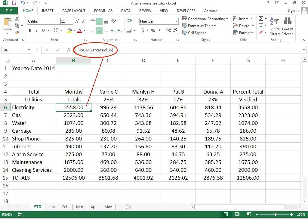 how to create 3d worksheets in excel 2013