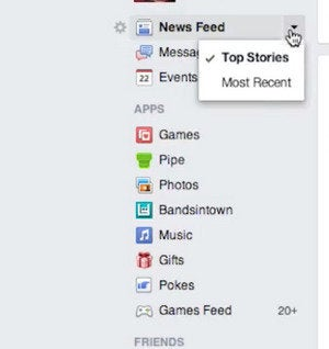 facebook desktop most recent