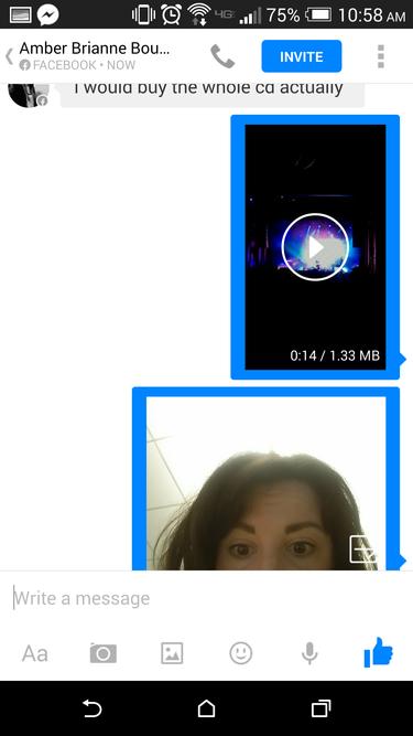 facebookmessenger selfie