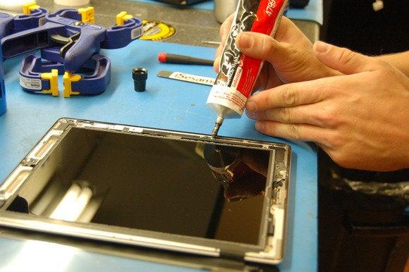 glue newglass ipad repair