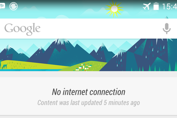 google now internet connection