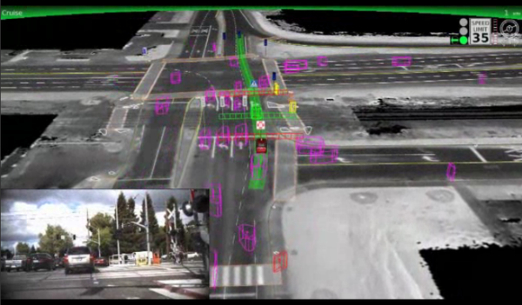 google self driving car map image may 27 2014