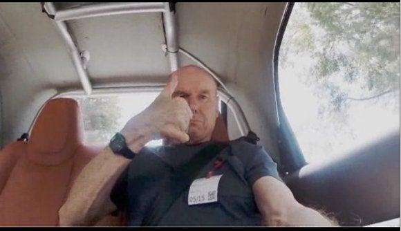 google self driving car thumbs up may 27 2014