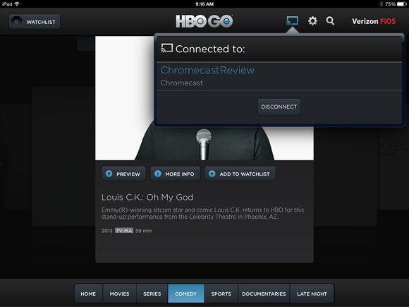 HBO Go Chromecast