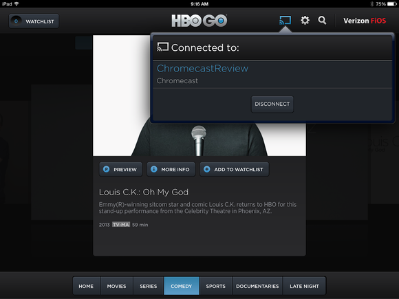 HBO Go Chromecast