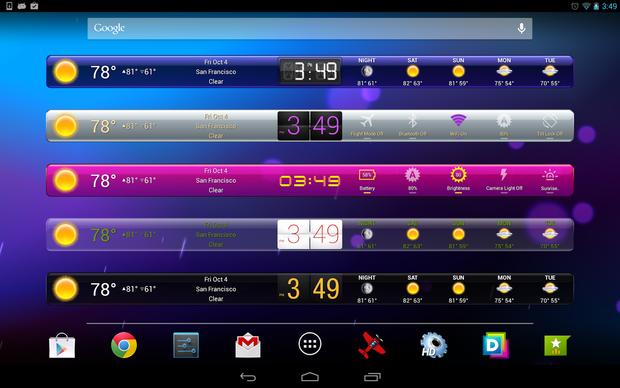 hd widgets result