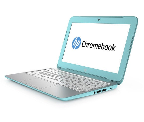 hp chromebook 11 computex 2014 june  ocean turquoise right