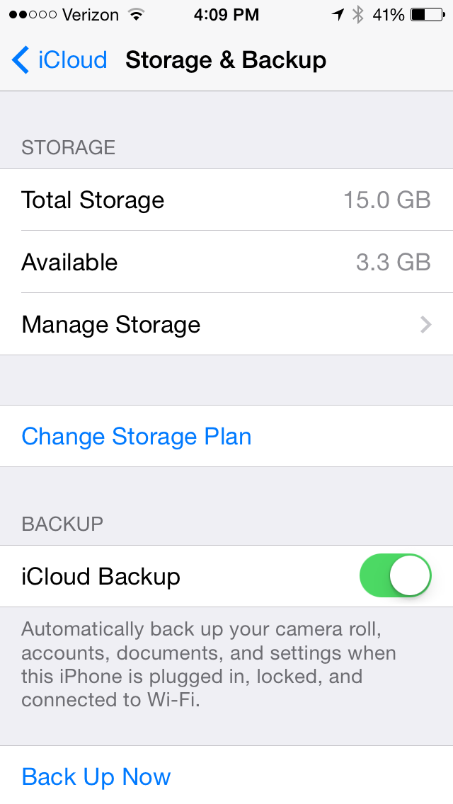 Do you need wifi for icloud backup