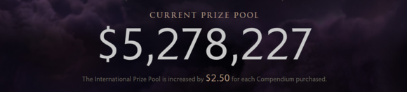 The International Prize Pool -- Dota 2