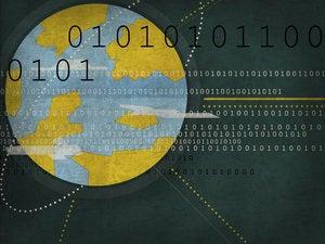 internet graphic world web data binary code