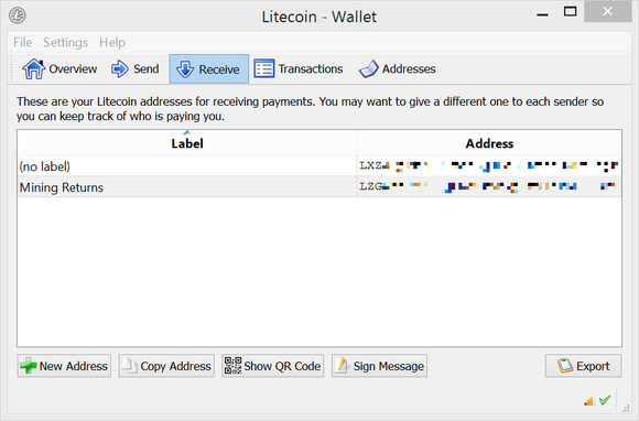 litecoin addresses