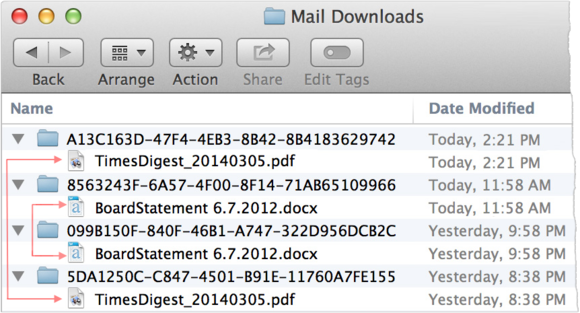 mail downloads folder