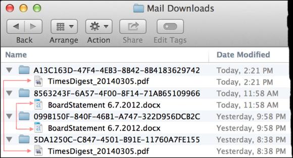mail downloads folder