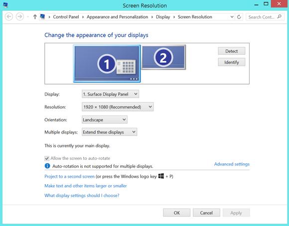 multiple monitors windows 8