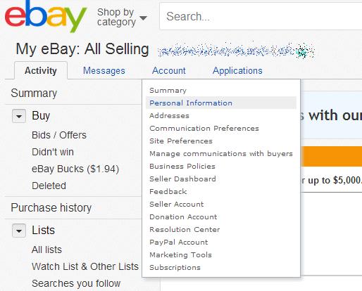 How To Change Your Ebay Password Pcworld