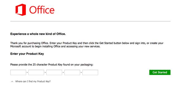 office 365 enter key blank