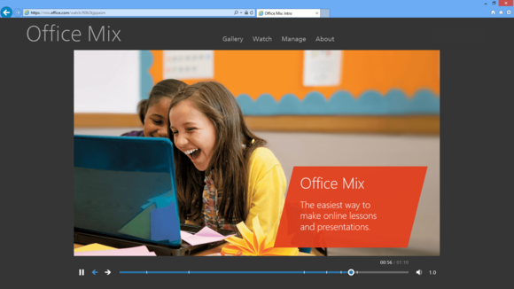 Microsoft office mix player