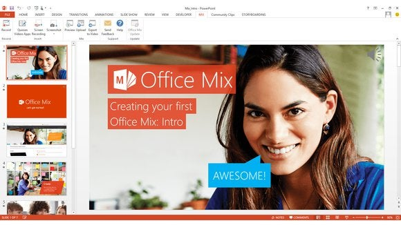 Microsoft office mix ribbon