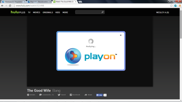 PlayOn in Chrome