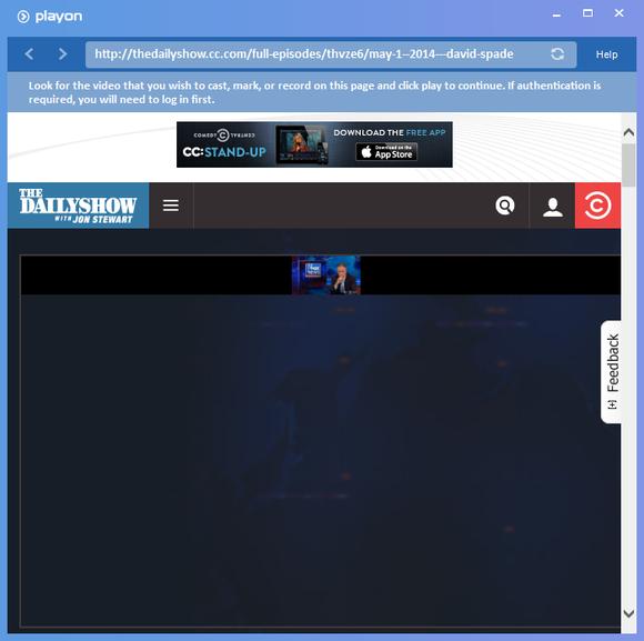 PlayOn Daily Show fail