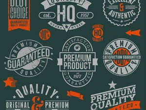 quality and guaranteed vector signs emblems labels 154124533