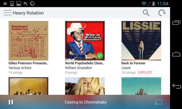 rdio android browse