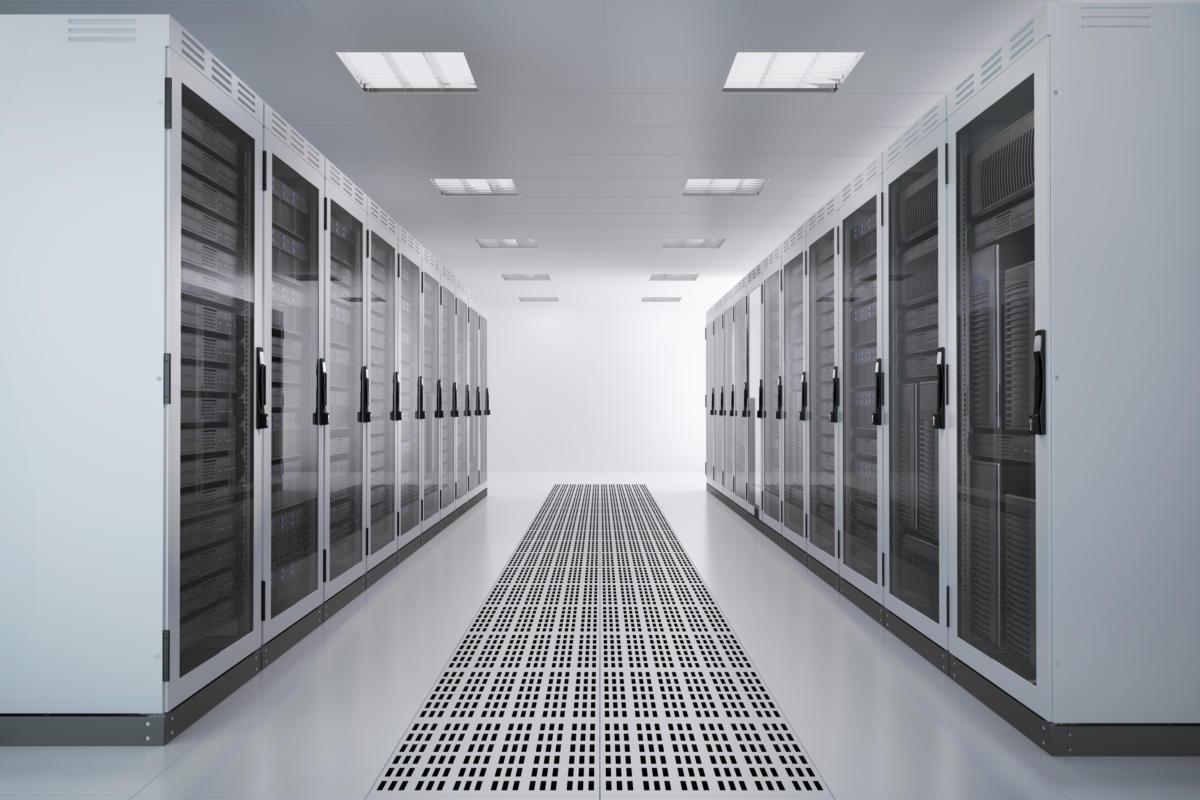 server racks airconditioned room 153686889