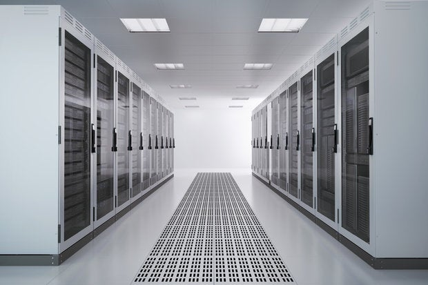 server racks airconditioned room 153686889