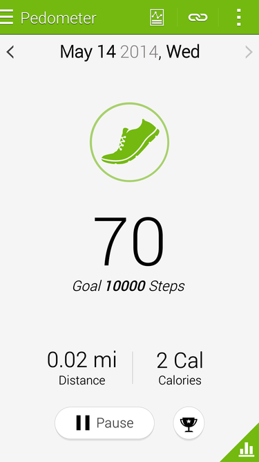 The Galaxy S5s Step Counts Are Reported In Samsungs S Health App