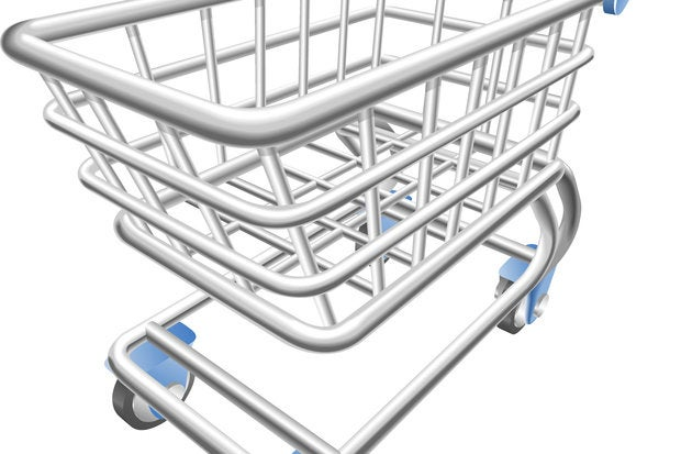 shiny shopping cart trolley vector illustration 125121951