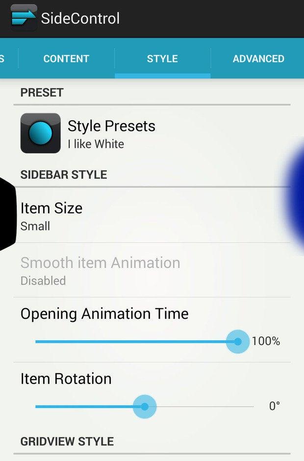 sidecontrol stylepresets