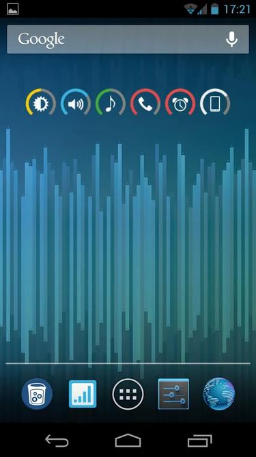 slider widget volumes result
