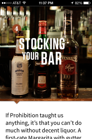 speak easy stocking your bar