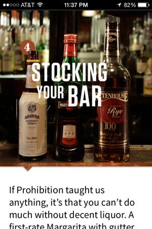 speak easy stocking your bar