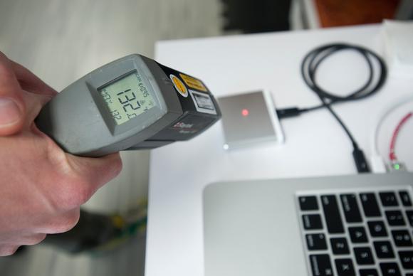 Silicon Power's T11 drive temperature
