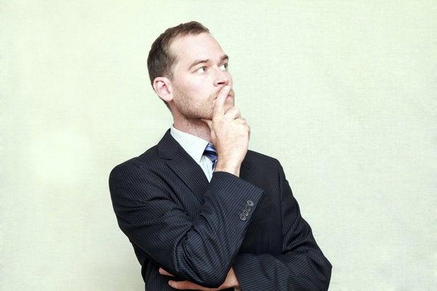 thinking man looking away 154142525
