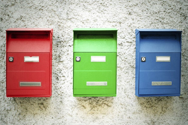 three mailboxes 167307066