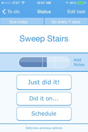 tody new task screen