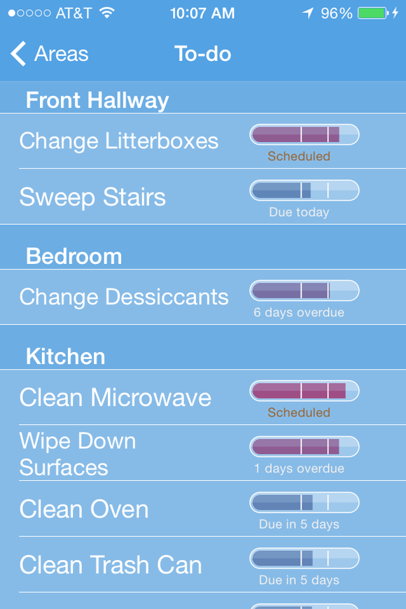 Big House Cleaning Schedule