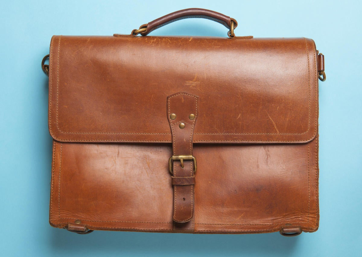 vintage leather briefcase 149878022