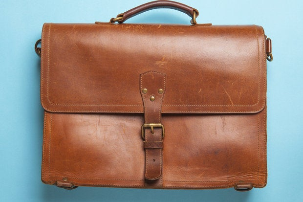 vintage leather briefcase 149878022
