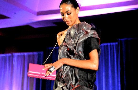 wearable fashion audio clutch