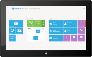 Insteon windows tablet scenes and thermostat
