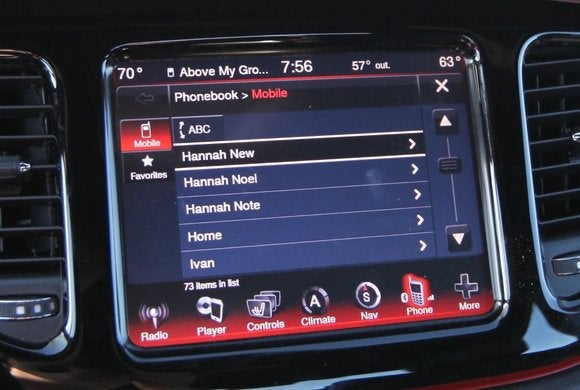 2014 dodge dart phone display 3