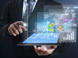 mobile business apps graphs data presentation