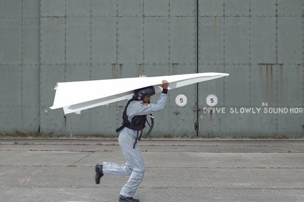 geek paper plane