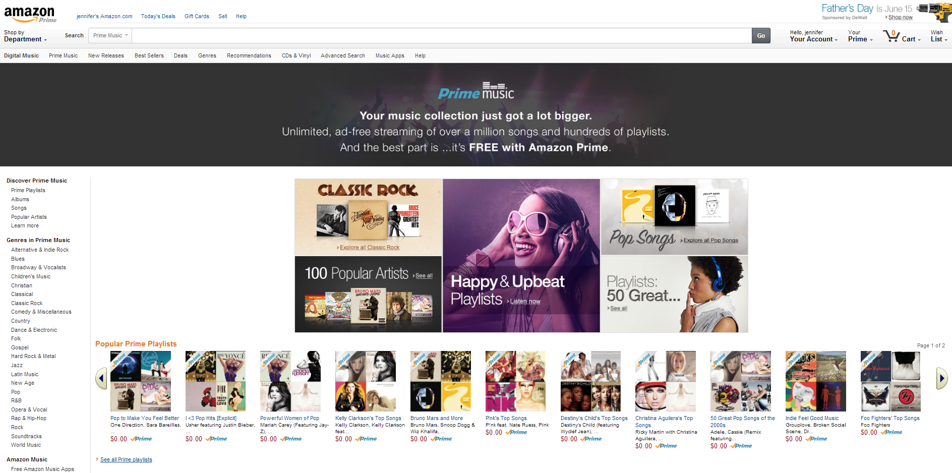 Amazon launches Prime Music, a free song streaming service for Prime
