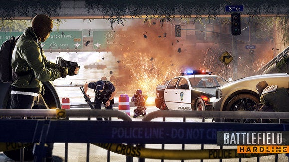 battlefield hardline police barricade